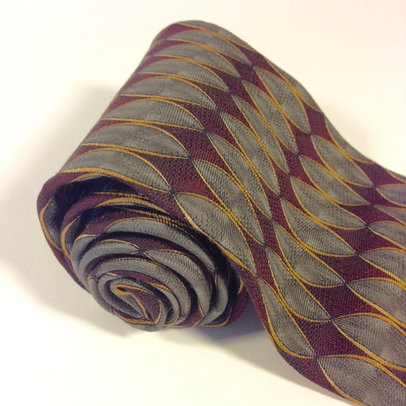 "XMI Other - LOUIS ROTH 100% Silk Men's Tie Geometric 4""x60"""